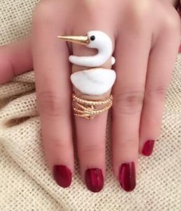 Vintage Swan Frauen-Verbindungs-Ring Set Stapel Ring-Weihnachtsgeschenk-Knuckle Midi Mid Finger-Spitze Stacking Rings