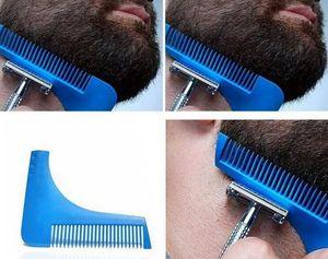 2017 Comb Beard Bro Shaping Shaving Brush Sexy Man Gentleman Beard Trim Template Hair Cut Molding Trim Template Beard Modelling Tools