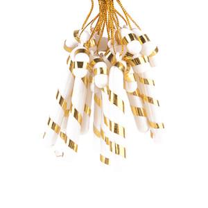 Wholsale 6 Xmas Tree Candy Cane Suspendus Ornement Décoration Noël Home Party Decor couleur aléatoire / cadeau de noël