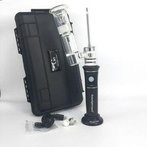 G9 Dab буровая установка Портативный Henail Plus 2500mAh керамический нагревательный база воск / сухой травы Испаритель ручка с Керамические / титан / Кварц катушки