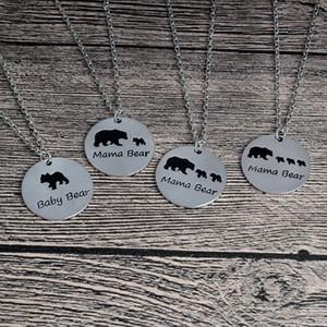 Heißer verkauf neue versilbert bar halskette polar mama bär halskette geschenke schmuck für mama frau muttertag geschenk geburtstag erinnerung