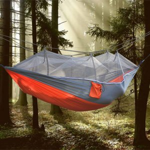 New Parachute Anti Mosquito Net Hammock Beach Tent Camping Sleeping Hammock Portable Outdoor Leisure Hanging Bed tree tent