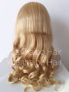 Grade 8A Super Thin Skin Silicone Wig Loose Wave Virgin Human Hair Europen Blond Full Thin Wig Free Shipping