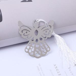 Metallo creativo nappe Bookmark vuote angelo aquila acciaio inossidabile Preferiti di articoli di cancelleria business regalo della festa nuziale Baby Shower 1 2ab F R