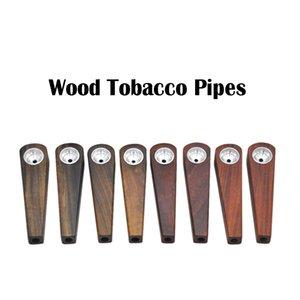Novos Tubos De Tabaco De Madeira De Tabaco De Tabaco De Alta Qualidade Clássico Estilo Simples Tubos De Fumo Para O Fumador Preço de Fábrica DHL