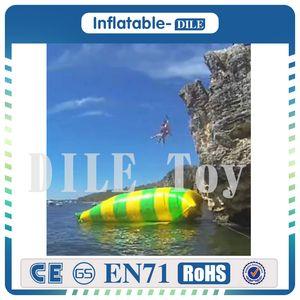 Freies Verschiffen, freie Pumpe! 12x2m 0.9mm PVC-Planen-aufblasbares Wasser-springendes Kissen / aufblasbarer Wasserkatapult-Klecks für Verkauf