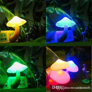 الفطر بقيادة إضاءة الليل الرومانسية ضوء الاستشعار مصابيح الولايات المتحدة المكونات لطيف E00193 بارد