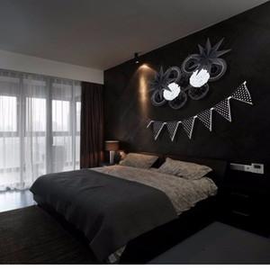Novo design 12 pçs / set tema preto e branco decoração do partido ventilador de papel pompons decoração fontes do partido de casa pendurado idéias para festa