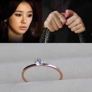 Anillos de la venda de los amantes del acero de titanio 316L con un diamante grande en 1.1mm para las mujeres y los hombres joyería de la boda Venta caliente envío libre PS5448