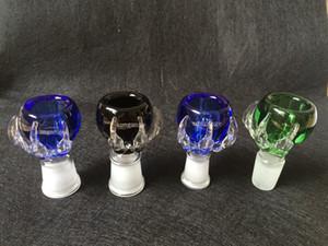 1 Unidades gruesas garra de dragón macho y famale junta cristal recipiente de vidrio para bongs de agua tubos de agua 14.4mm 18.8mm