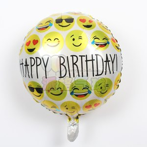 Nouveau 50pcs / lot amusant ballons en aluminium face, cool kiss, baiser joyeux anniversaire décoration enfants, ballon globos baloon filles garçons
