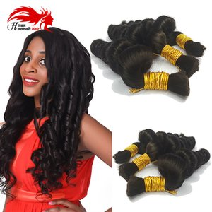 7A Brazilian Hair mini Braiding Bulk Hair Loose Wave Hair Bulk For Braiding Bundles Deep Loose Wave Brazilian