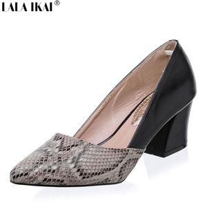 Schlangenhaut Muster Frauen Pumpt Sexy Spitz High Heels Schuhe Frau Zapatos Mujer Tacon