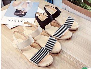 Sandálias de venda Mulheres Verão Deslizamento Em Sapatas Peep-toe Sapatos Baixos Sandálias Romanas Antiderrapante Sandálias de Fundo Macio Para mulheres Grávidas