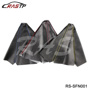 RASTP -General السيارات السيارات غرزة جلدية ألياف الكربون JDM التحول الحذاء غطاء مقبض الباب شيفتر لMT / AT الرياضة LS-SFN001