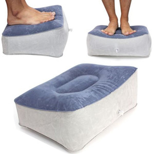 JY-215 PVC Inflatable Foot Rest Pillow Cushion Travel Relax Reduce DVT Risk on Flights For Relaxing Foot Tools 28x37cm