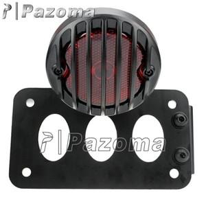 Lado da motocicleta lado preto montar luz placa de registro suporte de placa de suporte para honda