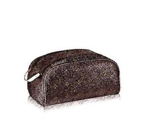 Borse cosmetiche del designer di marca per le donne MS. Pacchetto di ammissione M47528 Sacchetto di lavaggio per donna e uomo Canvas King Size Borsa da toilette