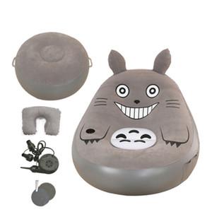 Moda plegable Beanbag Sofás Con Reposapiés Cama Totoro Colchones de dibujos animados Sofá inflable Muebles de sala Muebles