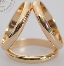 Hohe Qualität reine Verkupferung H Drei-Ring-Kette Schals Schnalle hochwertige Europa und dreimal die Schal Schnalle neun Farbe kann wählen