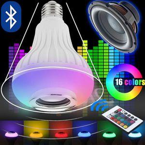 1 STÜCK 12 Watt E27 12 Watt Drahtlose RGB Musik Birne LED Lampe Bluetooth Lautsprecher 110 V 220 V Drahtlose RGB Musik Player Audio Lautsprecher Licht mit Fernbedienung