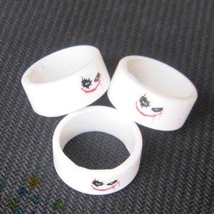 Клоун человек силиконовые Vape полосы танк группа для модов форсунки резиновые декоративные и защиты сопротивление кольцо белый цвет DHL бесплатно