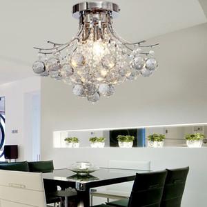 Хрустальный потолочный светильник Подвесной светильник Хрустальные люстры Лампы Подвесные светильники Хромированная отделка Люстра с 3 лампочками Потолочные светильники