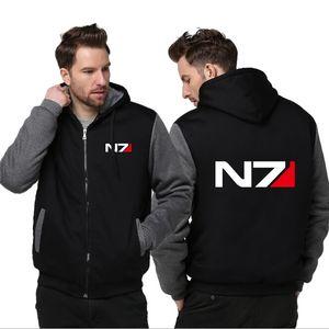 Cappotti invernali Uomo caldo spessa felpa con cappuccio N7 Giacche New Fashion Casual Capispalla Abbigliamento Capispalla
