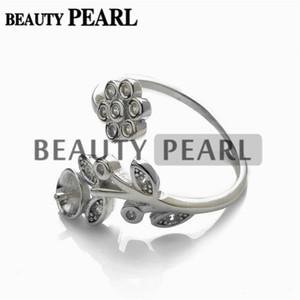 Solo 1 pieza Joyería Hallazgos Anillo Semi Montaje 925 plata esterlina Floral DIY Hacer anillo en blanco