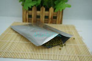 Poche de lait en poudre 5x7cm Poche unie, 200pcs x Joint de chaleur blanc argent Pochette de sacs plats en aluminium pur-noix / grain de café