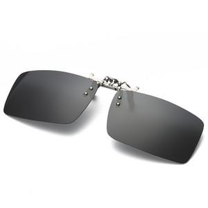 Moda Güneş Gözlüğü Klip Miyopi Polarize Unisex Ultra-hafif Lens Güneş Gözlüğü Anti-Scratch Klip Ambalaj Ile Sürüş Gözlük