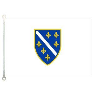 Drapeau de la Bosnie-Herzégovine bannière 3X5FT-90x150cm 100% polyester, 110gsm drapeau extérieur de tissu tricoté