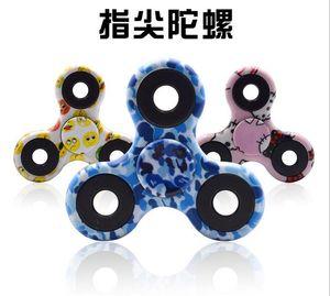 EDC Camo Fidget Spinner giocattoli per l'ansia da decompressione Hand Spinner Finger Tip Rotation ansia HandSpinner