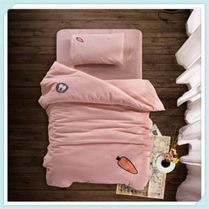 Kids Bedding Sets Three Piece Baby Cartoon Bed Suit Children Kindergarten Quilt Cotton Bed Set Pillowcase Quilt Cover Bedding Set