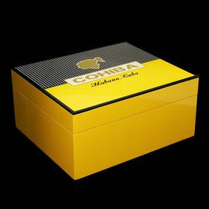 Последняя версия! COHIBA коричневый кожаный книга стиль Кедр выстроились сигары держатель сигареты хьюмидор с резаком бесплатная доставка