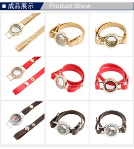 NUEVA Joyería Retro de Acero Inoxidable DIY locket pulsera Rhinestone Cristal Redondo medallones flotantes mujeres Charm Pulseras
