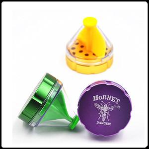 New Hornet Grinder Herb Grinders Lega di metallo Herb Tobinders Grinders Funnel Shape Clone VS Sharpstone Grinders