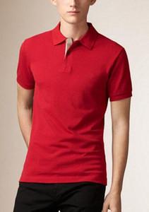 2017 Классический Mens Casual T Shirt Brit Стиль 100% хлопок Поло футболки Летний отдых Спортивные рубашки весна осень Твердые футболку Англии