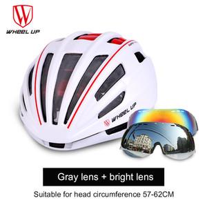 Capacete de equitação bicicleta Um formando óculos de capacete homens e mulheres Mountain bike dupla camada equitação equipamentos