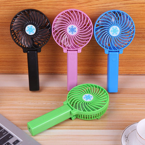 New USB Rechargeable Handheld Mini Fan Lithium Battery Portable Summer Energy Conservation Folding Cooling Fan fast shipping