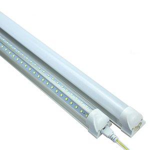 En forma de V 25PCS LED tubo 2 pies luz 18W Led Tubos lados dobles SMD2835 600mm AC 85-265V envío libre Fedex UPS