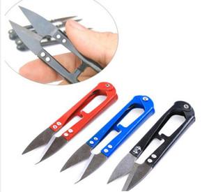 Forbici per cucire in acciaio inox a forma di 100 pezzi / lottoU forbici per ricamo con filo a punto croce accessori per cucire a punto croce