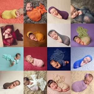 Nouveau 2017 Bébé Photographie Props Fond Coton Rayonne Stretch Tricot Wrap Infantile Photo Wraps Nouveau-Né Bébés Couverture 45 * 160 cm