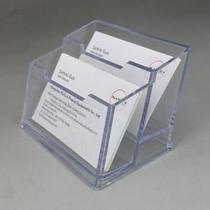 Einige Arten Acrylplastik-Firmenname-Firmen-Karten-Identifikations-Anzeigen-Halter stehen freien Raum für Ausstellungs-Stand auf Desktop 2pcs