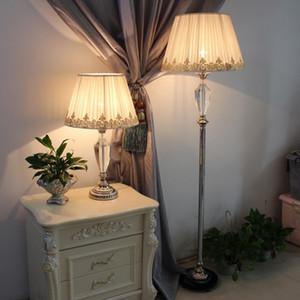 Modern oturma odası yatak odası zemin lambası Amerikan tarzı çalışma odası zemin lambası otel ziyafet odası conferenc dekoratif kristal zemin lambası