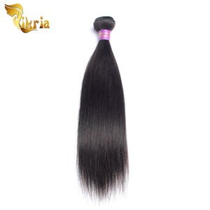 4 Pcs Human Hair Wefts Straight Brazilian Indian Peruvian Malaysian Extensions Human Hair Weaving Natural Black Color 4 Bundles