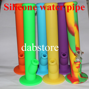 Non-stick Silicone Water Pipes silicone bongs good quality silicone water pipe and free shipping by DHL