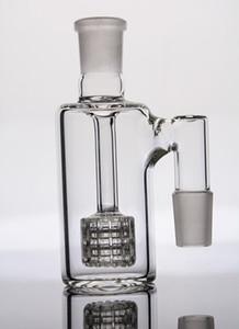 En ashcatcher STOCK con matriz estéreo perc colector de cenizas de vidrio con juntas de 18 mm para la tubería de agua de cristal bong