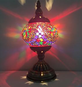 모든 수제 새로운 침실 램프 유럽식 책상 램프 지중해 모자이크 모자이크 백조 선물 테이블 램프