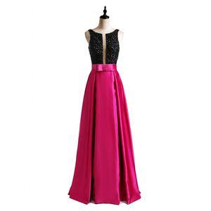 Special Occasion Realnew Brand 2019 Dress Attractive Black Rhinestones Designer Evening Dress Floor Length Free Shipping